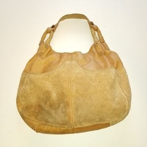 LUCKY BRAND HOBO SLOUCH SHOULDER BAG SUEDE LEATHER